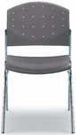 Eddy 4-Post Chrome Stack Side Chair with Upholstered Seat Pad [ED4010-000-FS-DV]