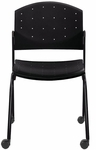 Eddy Armless Stack Side Chair on Casters [ED4070-FS-DV]