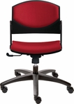 Eddy Swivel Chair with Upholstered Back and Seat Pads [ED4420-FS-DV]