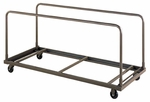 Customizable Edge Load Table Truck for Standard Rectangle or Square Tables - 20''W x 72''D x 34''H [TT-120-BKS]