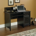 Edge Water 47''W x 37''H Wooden Computer Desk and Hutch with Organizing Cubbyhole Storage - Estate Black [409043-FS-SRTA]