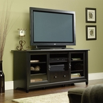 Edge Water 58.875''W Entertainment Credenza with Adjustable Shelf - Estate Black [409048-FS-SRTA]