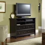 Edge Water 45''W x 31''H Highboy Wooden Entertainment Center with 2 Adjustable Shelves - Estate Black [409242-FS-SRTA]