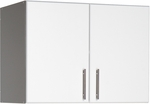 Elite 32'' Stackable Wall Cabinet with 2 Doors and Stainless Metal Handles - White [WEW-3224-FS-PP]