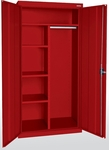 Elite Series 36'' W x 18'' D x 72'' H Combination Cabinets with Adjustable Shelves - Red [EACR-361872-01-EEL]