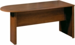 Embassy Peninsula Conference Table with Wire Management - Tuscany Brown [60800-2163-FS-BS]