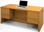 Embassy Executive Desk with Dual Half Pedestals and Drawers - Cappuccino Cherry [60450-1168-FS-BS]