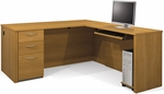Embassy L-Shaped Assembly with Keyboard Shelf and Filing Drawer - Cappuccino Cherry [60852-68-FS-BS]