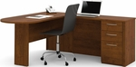 Embassy L-Shaped Workstation Kit with 2 Utility Drawers and 1 Filing Drawer - Tuscany Brown [60880-63-FS-BS]