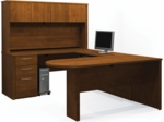 Embassy U-Shaped Assembly with Hutch and Conference Table - Tuscany Brown [60856-63-FS-BS]