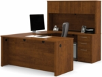 Embassy U-Shaped Assembly with Hutch and Executive Desk - Tuscany Brown [60857-63-FS-BS]