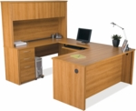 Embassy U-Shaped Assembly with Hutch and Executive Desk - Cappuccino Cherry [60857-68-FS-BS]