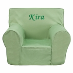 Personalized Small Solid Green Kids Chair [DG-CH-KID-SOLID-GRN-EMB-GG]