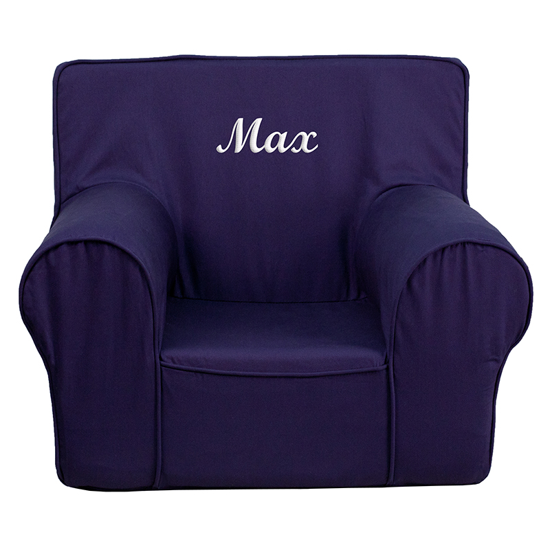 Personalized small solid navy blue kids chair dg ch kid for Small chair for kid