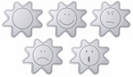 Childrens Educational Shatter Proof Acrylic Emotion Mirrors: 5 Pack [WB3569-FS-WBR]