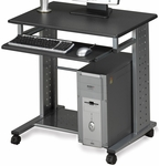 Empire Mobile PC Station with Slide Out Keyboard Tray - Anthracite [945ANT-FS-MAY]
