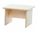 Kid's Healthy Plywood End Table with Tuff-Gloss UV Finish - Assembled - 19''W x 15''D x 13''H [31550-WDD]