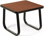 End Table with Sled Base - Mahogany [TABLE2020-MHGY-FS-MFO]