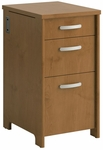 Envoy Wooden 16''W X 30.2''H T Pedestal File Cabinet with 3 Drawers - Natural Cherry [PR76380-FS-BHF]