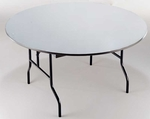 EP Series Plywood Core Round 48''Diameter Padded Top Folding Table - 30''H [R48EP-MFT]