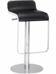 Equino Swivel Barstool in Black [301111-FS-ZUO]