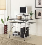 Cormac 42'' W x 23.5'' D x 36.5'' H Computer Desk - Espresso Laminate with Silver Frame [C-1133-FS-EOF]