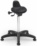 Poly Chairs 25'' W x 21'' D x 22'' H Adjustable Height Stool - Black [SS-10801-POD-FS-EOF]
