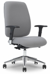 Viva 28.5'' W x 31.5'' D x 46.75'' H Adjustable Height High-Back Task Chair with Ergo Balance Control - Chrome Base [E-74786-CB-FS-EOF]