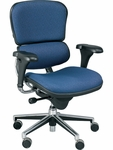 Ergohuman Series High Back 26.5'' W x 29'' D x 46'' H Adjustable Height Task Chair - Fabrix [LE10ERGLO-FAB-FS-EURO]