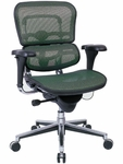 Ergohuman Series Mid Back 26.5'' W x 29'' D x 39.5'' H Adjustable Height Mesh Office Chair - Green [ME8ERGLO-KM14-FS-EURO]