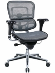 Ergohuman Series Mid Back 26.5'' W x 29'' D x 39.5'' H Adjustable Height Mesh Office Chair - Gray [ME8ERGLO-W09-53-FS-EURO]