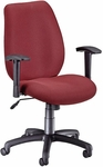 Ergonomic Upholstered Managers Task Chair with Arms - Burgundy [611-63-FS-MFO]