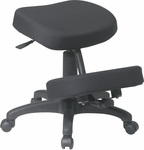 Work Smart Ergonomically Designed Knee Chair with 5 Star Base and Memory Foam- Black [KCM1425-FS-OS]