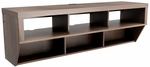 Series 9 Designer 58'' Wide Wall Mounted AV Console 6 Open Storage Compartments - Espresso [ECAW-0508-1-FS-PP]