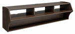 Altus Plus 58'' Floating TV Stand with 4 Open Storage Compartments - Espresso [ECAW-0208-1-FS-PP]