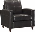 OSP Furniture Eco Leather Club Chair with Espresso Finish Legs - Espresso [SL2811-EC1-FS-OS]