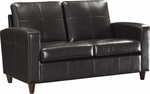 OSP Furniture Eco Leather Loveseat with Espresso Finish Legs - Espresso [SL2812-EC1-FS-OS]