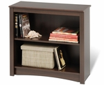 Fremont 31.5''W 2-Shelf Bookcase with 1 Adjustable Shelf - Espresso [EDL-3229-FS-PP]