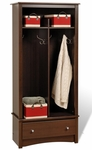 Fremont Entryway Organizer with 5 Storage Compartments and 4 Coat Hooks - Espresso [EEL-3369-K-FS-PP]