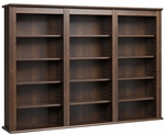 Triple Wall Mounted Storage with 12 Adjustable Shelves - Espresso [EFW-0523-FS-PP]