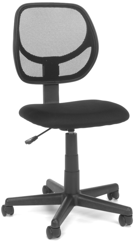 essentials height adjustable armless task chair with mesh back black e1009 by ofm. Black Bedroom Furniture Sets. Home Design Ideas
