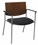 1300 Series Extra Wide Stacking Guest Armchair with Chocolate Wood Back - Grade 2 Upholstered Seat [WD1311SL-SP20-GR2-IFK]