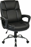 Work Smart Executive Big Man's Eco Leather Chair with 350 lb Weight Capacity - Black [EC1283C-EC3-FS-OS]