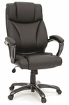 Gruga Deluxe Leather Executive Chair - Black [412186-FS-SRTA]