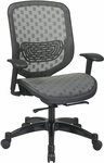 Space Executive DuraFlex Flow-Thru Technology™ Back and Seat Chair with Seat Height Adjustment and Adjustable Arms - Charcoal [829-R22C728P-FS-OS]