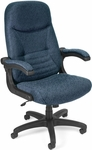 Mobile Arm Executive Conference Mobile Chair - Navy [550-304-FS-MFO]