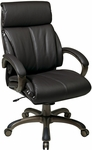 Work Smart Executive Eco Leather Chair with Locking Tilt Control and Cocoa Coated Base - Espresso [ECH68801-EC1-FS-OS]