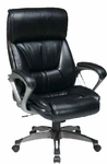 Work Smart ECH89301 Executive Eco Leather Chair with Padded Arms and Cocoa Coated Base - Espresso [ECH89301-EC1-FS-OS]