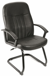 Executive LeatherPlus Budget Guest Chair with Arms - Black [B8109-FS-BOSS]