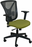 Fermata Executive Mesh Chair with Black Base - Fennel Fabric [WMCEXFB-5826-FS-MVL]